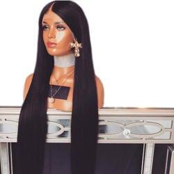 Eversilky предварительно сорвал натуральных волос 360 синтетический Frontal шнурка парик прямо бразильский волосы Remy натуральные волосы