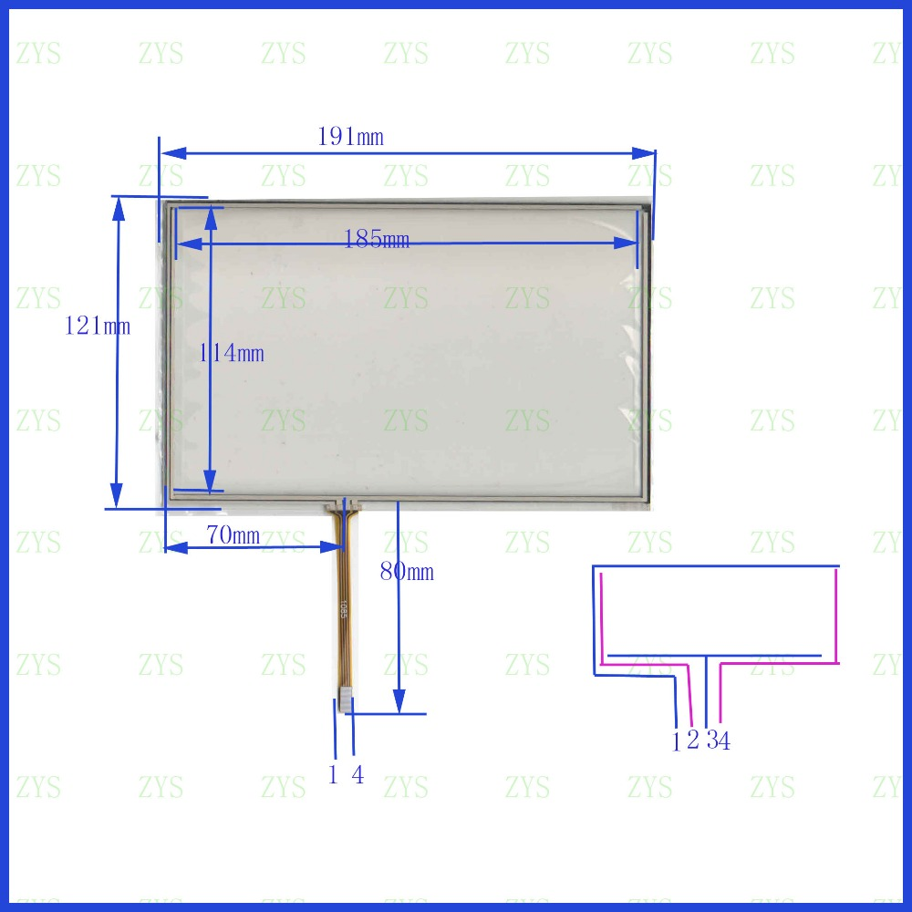 hight resolution of zhiyusun 192mm 120mm 6665 new 9 inch touch screen 4 wire resistive usb touch panel overlay kit 192 120 this is compatible
