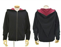 Magic Witch Wizard Casual Jacket Red Black Hoodie Sweatshirt Zipper Coat Cosplay Costumes 1