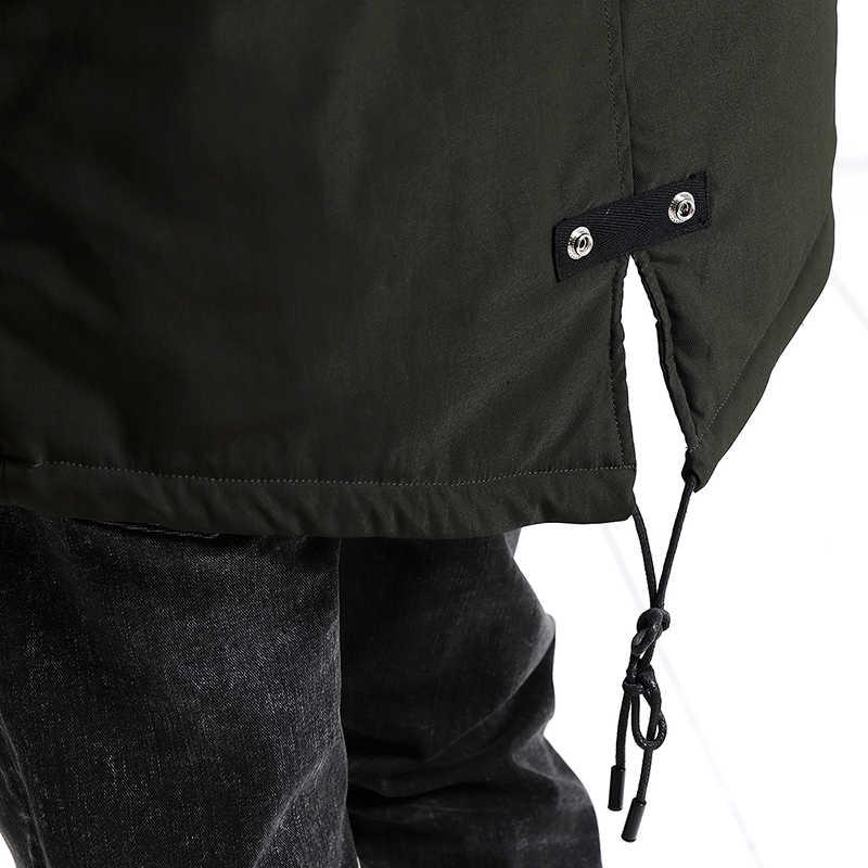 Мужская теплая куртка SIMWOOD, зимняя парка приталенного силуэта, 2019, пальто батальных размеров, MC017001