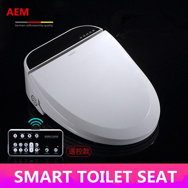 Asiento de inodoro inteligente calentado WC Sitz armario de agua inteligente lavado automático tapa de inodoro seco cubierta Elongated niños entrenamiento sentado