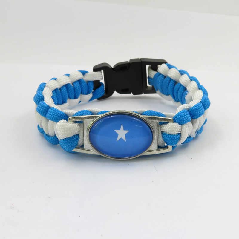 Moda miłość somalia bransoletki z rzemykami handmade somalia flaga bransoletka dla kobiet i mężczyzn biżuteria