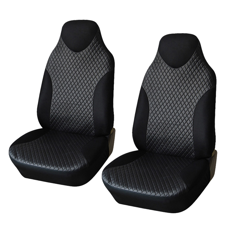 Black Sports Seat Covers PVC Fabric Car Cover Universal Fit Most Auto Interior Accessories