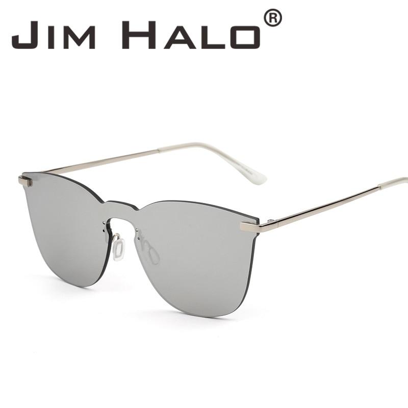 Jim Halo Rimless Mirrored Square integrētās saulesbrilles, viena - Apģērba piederumi