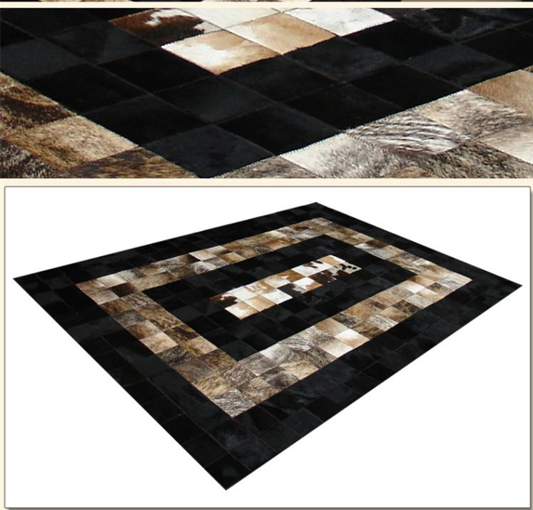 2018 free shipping 100% natural genuine cow leather kids rug