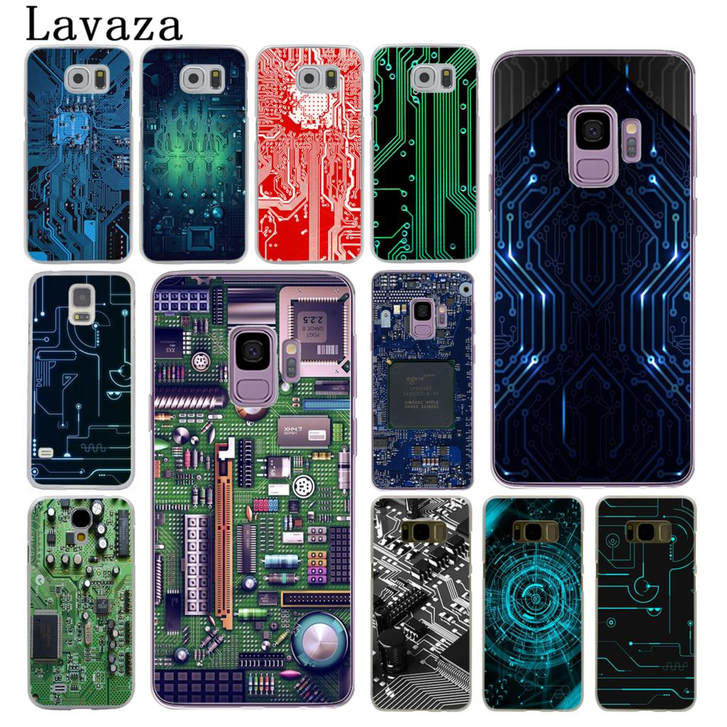 Lavaza Technologie platine <font><b>Motherboard</b></font> linie print Hard Cover Fall für <font><b>Samsung</b></font> Galaxy S10 E S10E S8 <font><b>S9</b></font> Plus S6 s7 Rand image