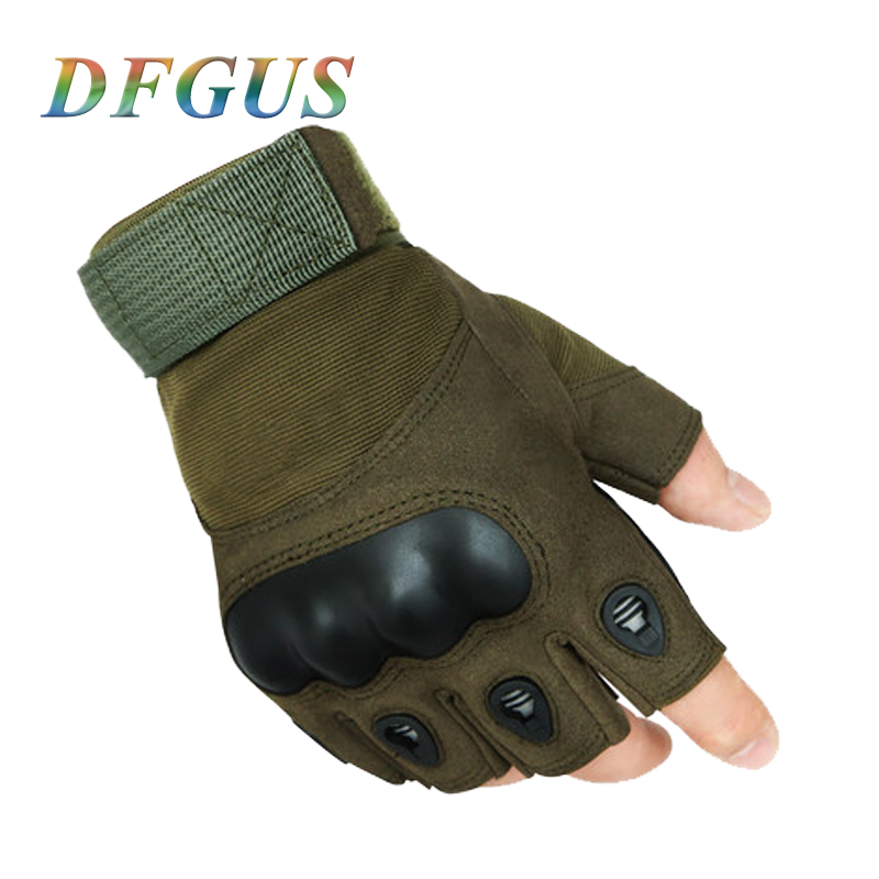 2018 US Tactical Gloves Military Anti-slip Men's Gloves Outdoor Sports Combat Mittens Fingerless Gloves Men Tactical Gloves(China)