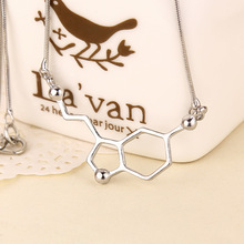 2017 fashion latest science students dopamine molecule chemical structure of Formula necklace Intellectuals