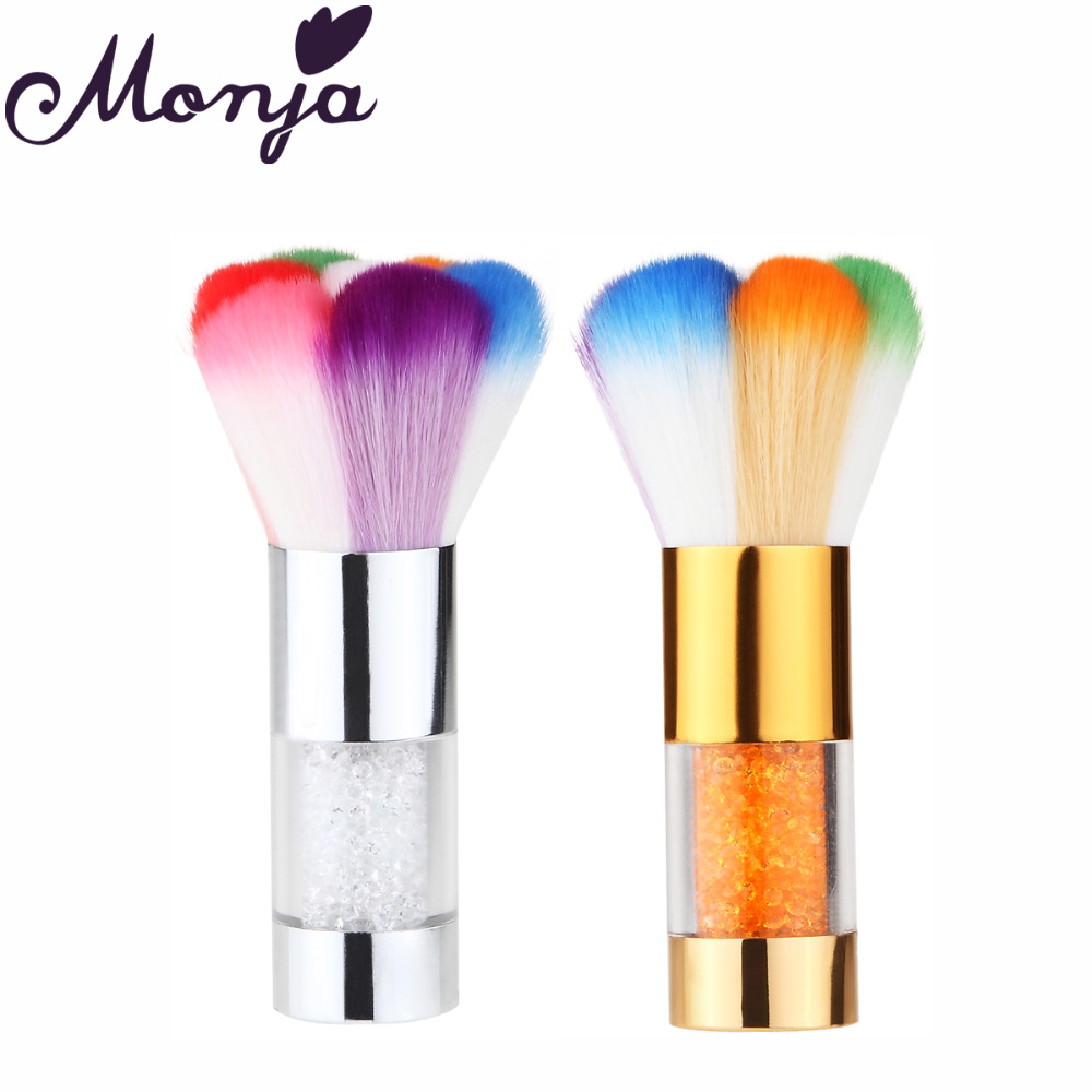 Nail Art Brush Cleaner: Monja Nail Art Manicure Pedicure Dust Cleaner Cleaning