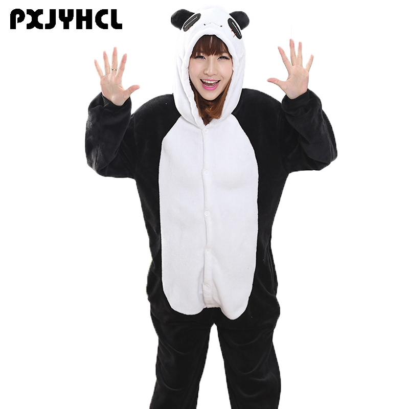 74532fa80b280 Kungfu Panda Kigurumi Onesie pour adulte Animal homme femmes chaud doux  point tigre vêtements de nuit Onepiece hiver Anime combinaison pyjama