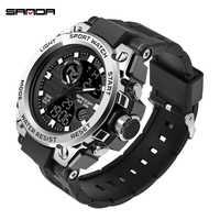 SANDA G Stil Männer Digitale Uhr Shock Military Sport Uhren Wasserdichte Elektronische Armbanduhr Herren Uhr 2019 Relogio Masculino