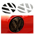 For Volkswagen VW golf 7 magotan CC Tiguan POLO R20 GTI carbon fiber Auto tail trunk Logo grooves decoration sticker car styling