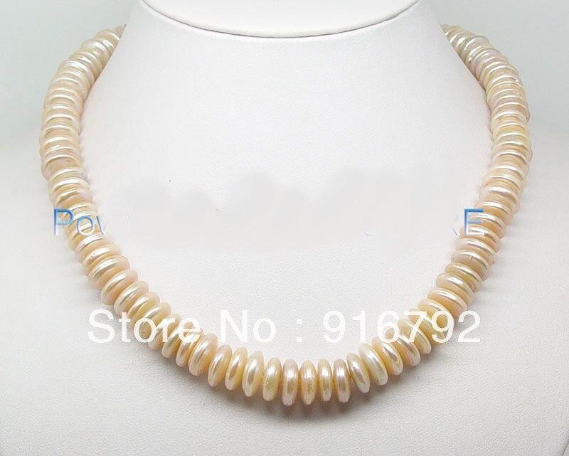 Livraison gratuite > > > > > en vente 12 mm pièce rose perle strands collier gem pierre en argent sterling fermoir