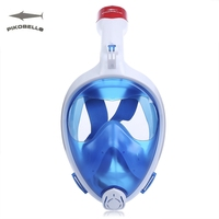 PIKOBELLO Full Face Diving Mask Foldable Anti Fog Top Dry Snorkeling Mask Scuba 180 Degree Wide