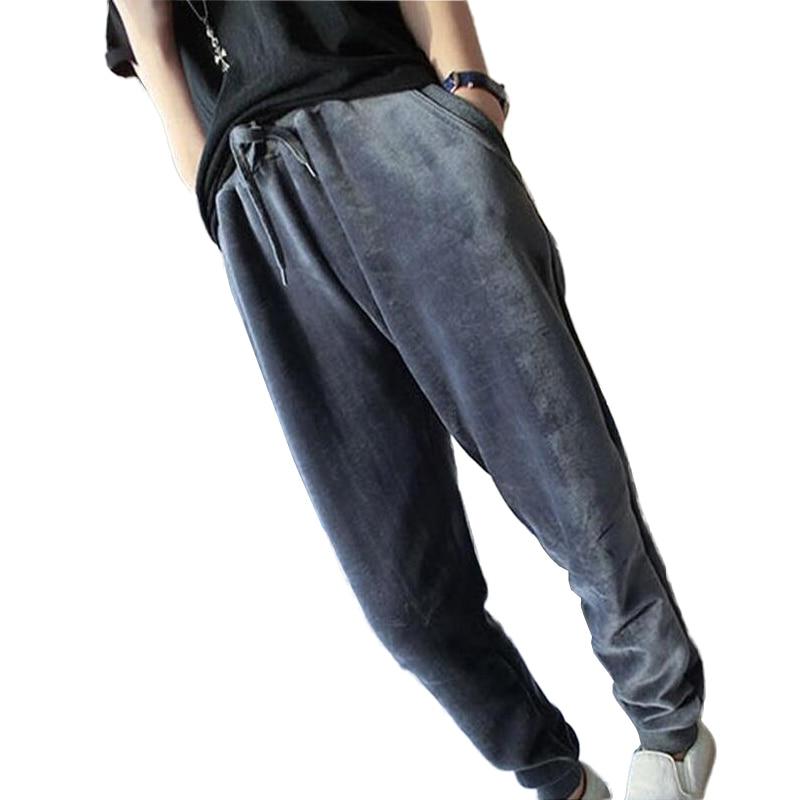 2019 Autumn Winter Warm Harem Pants Women Plus Velvet Thicken Elastic Waist Sportwear Casual Trousers Plus Size 5XL Pantalon