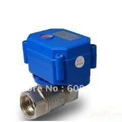 3/4 ''CWX-15Q/N Mini robinet à tournant sphérique électrique en acier inoxydable CR01, Type de contrôle CR03/CR04/5 V/12 V
