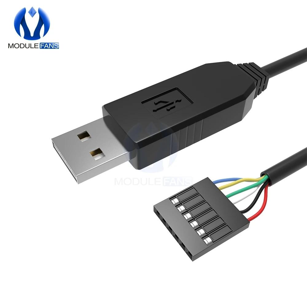 FTDI FT232RL USB to TTL Serial RS232 Cable 6 Pin ARM PIC Pi /& ji