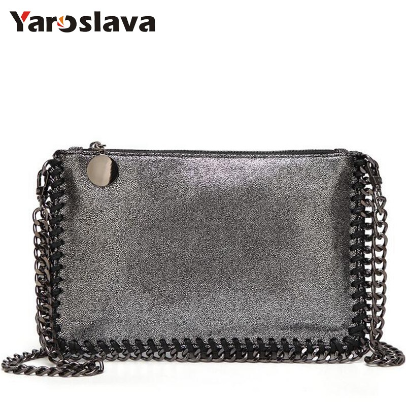 Fashion Womens design Chain Detail Cross Body Bag Ladies Shoulder bag PU leather clutch bag luxury evening bags LL351