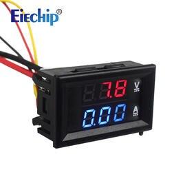 Цифровой вольтметр Амперметр постоянного тока 100 В 10A синий и красный цвета LED AMP двойной цифровой дисплей Вольтметр Манометр автомобильный