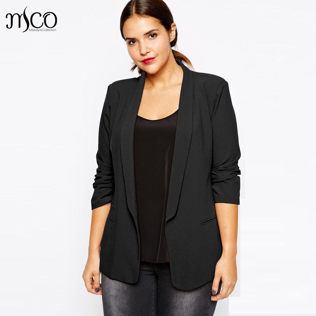 High Quality Classic Slim Lapel Linen Office Blazer feminino Basic Plus Size Textured Tailored Women Jackets and Blazers 6XL 7XL