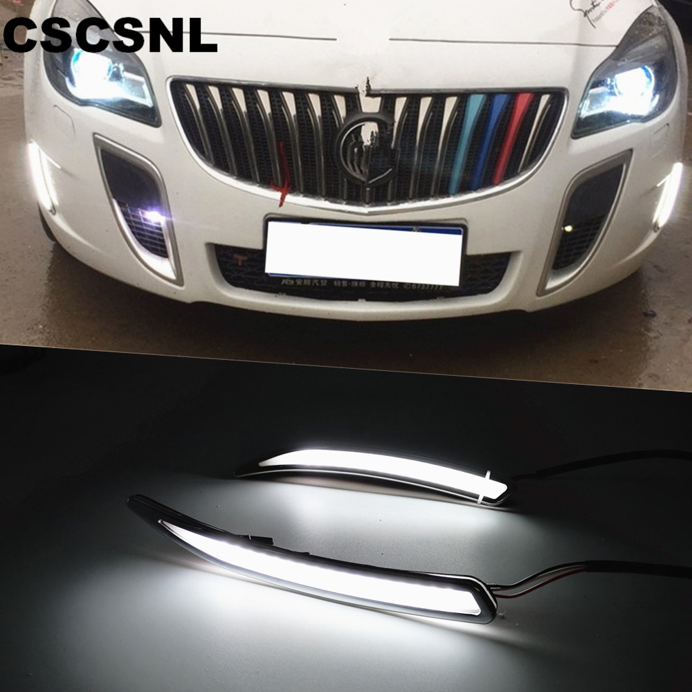 CSCSNL 12V LED DRL Daytime Running Light with turnning signal For Buick Regal GS Opel Insignia