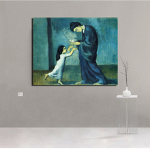 Pablo Picasso Blue Period Art Canvas Painting Posters Prints Marble Wall Decorative Pictures Modern Home Decoration