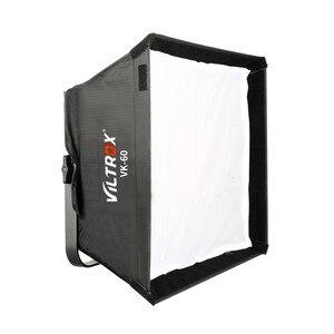 Image 2 - Viltrox VK 60 LED light Softbox Fold Outdoor Reflector Umbrella Diffuser+Carrying Bag for Viltrox VL 40T VL 50T/B VL 60T VL 85T
