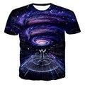 XQXON-Newest galaxy space printed creative t shirt 3d men's tshirt summer novelty 3D feminina psychedelic tee shirts clothes