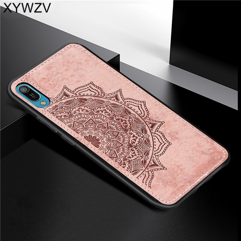 Image 5 - Huawei Y6 Pro 2019 Shockproof Soft TPU Silicone Cloth Texture Hard PC Phone Case For Huawei Y6 Pro 2019 Cover Huawei Y6 Pro 2019-in Fitted Cases from Cellphones & Telecommunications