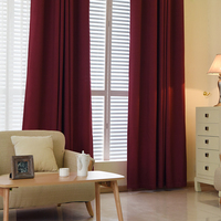 Solid Color Faux Linen Velvet Curtains for Living Room Modern Curtains for Bedroom Window Treatment Curtains for Children
