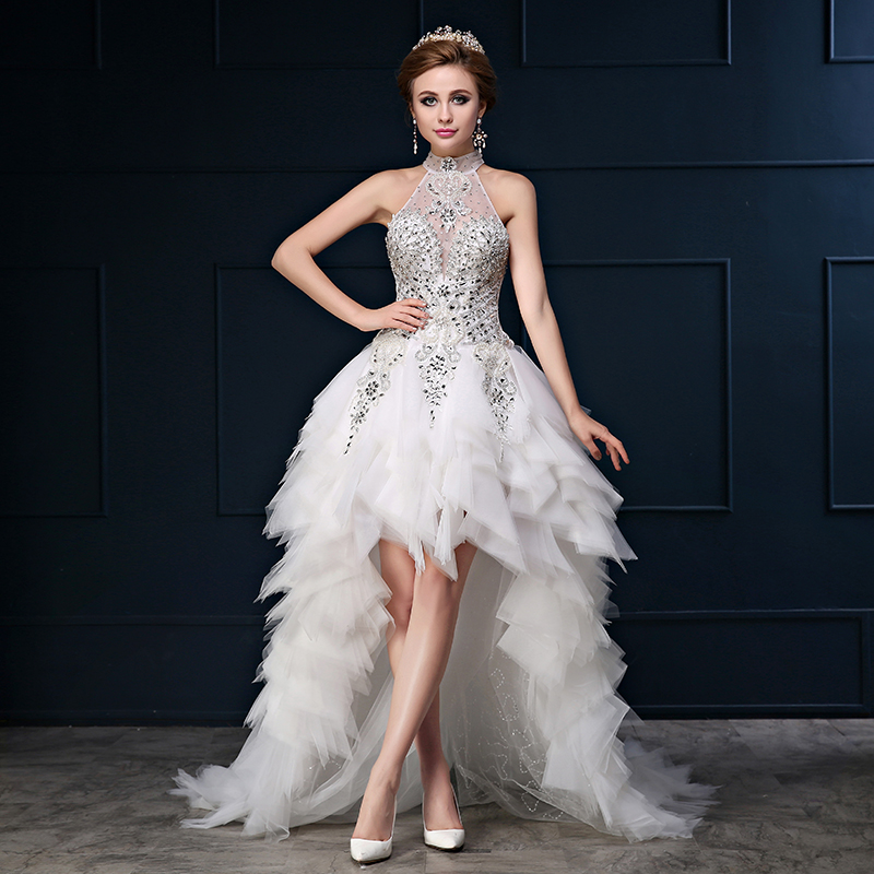 Vestidos De Noiva Short Front Long Back Wedding Dresses
