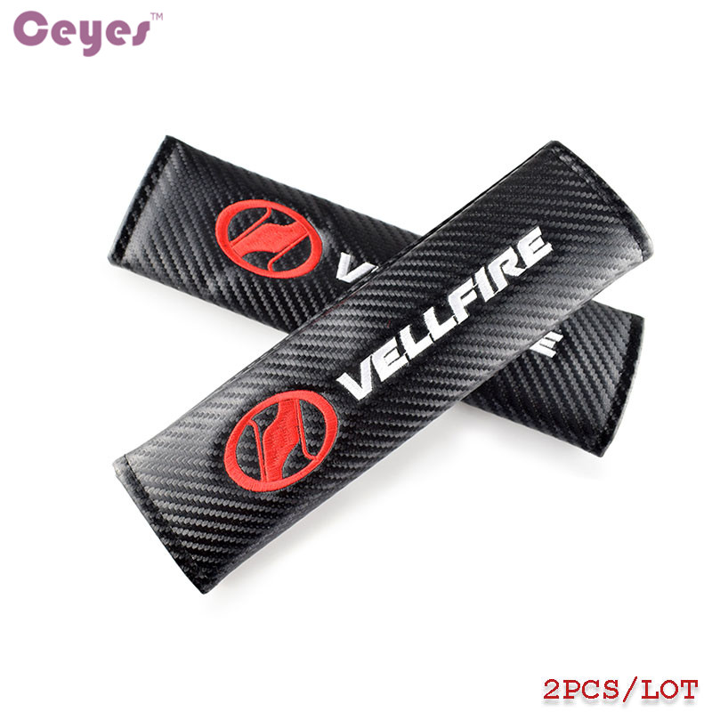 Ceyes Car Styling Case For Toyota Vellfire Voxy CHR Corolla Avensis Auris Auto Seat Belt Cover Car-Styling Car Accessories 2pcs