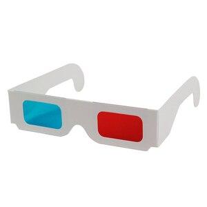 Image 2 - HFES חמה 100 זוגות אוניברסלי נייר Anaglyph 3D משקפיים נייר 3D תצוגת משקפיים Anaglyph אדום ציאן אדום/כחול 3D זכוכית עבור סרט EF
