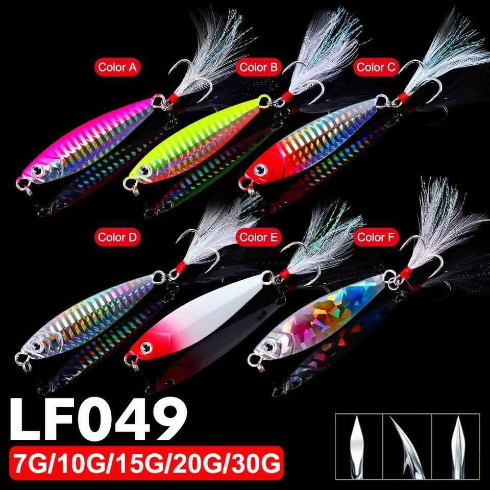1 قطعة 7G-10G-15G-20G-30G بطيئة تهزهز المعادن الصيد الطعم الرصاص الأسماك تهزهز الصيد إغراء ملعقة الاصطناعي الصلب الشتاء الجليد القفز السنانير