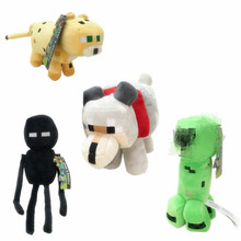 4pcs/lot Big 25-42cm Minecraft  Plush Toys Doll Soft Stuffed Animals Toys for Kids Children Gifts все цены