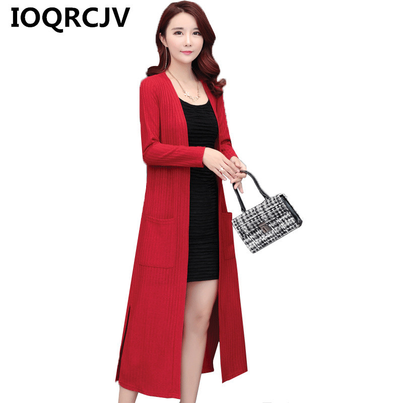 Long Cardigan Sweater Women's 2019 Spring Autumn Long Sleeve Casual Shawl Sweater Knitted Cardigans Sweater Loose Thin Outerwear