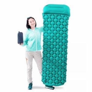 Image 5 - Air Moistureproof Camping Mats Sleeping Pad Inflatable Cushion Outdoor Lightweight Picnic Beach Plaid Blanket Home Rest Air Mats