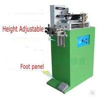 Máquina Eléctrica de impresión de almohadilla de un color, máquina de impresión para número, fecha, logotipo pequeño, placa de cliche y almohadilla de goma