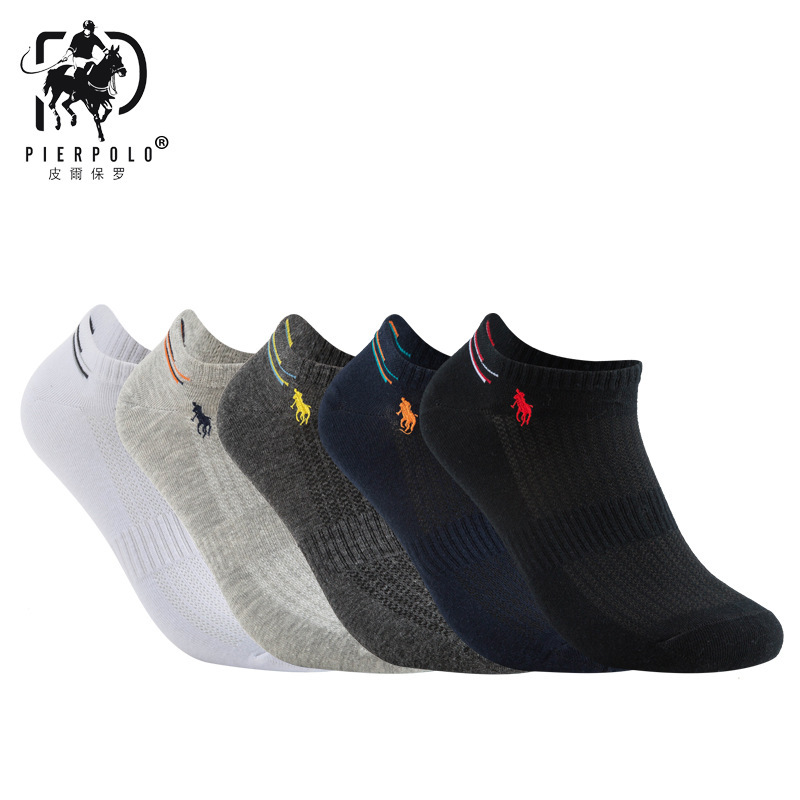 New Arrival Men Socks Combed Cotton PIER POLO Brand Socks,Colorful Dress Socks (5 Pairs / Lot ) Best Gift With Box Men's Socks