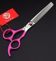 7 5 Inch Professional Pet Dog Scissors Thinning Scissors 55 Teeth With Scissors Bag