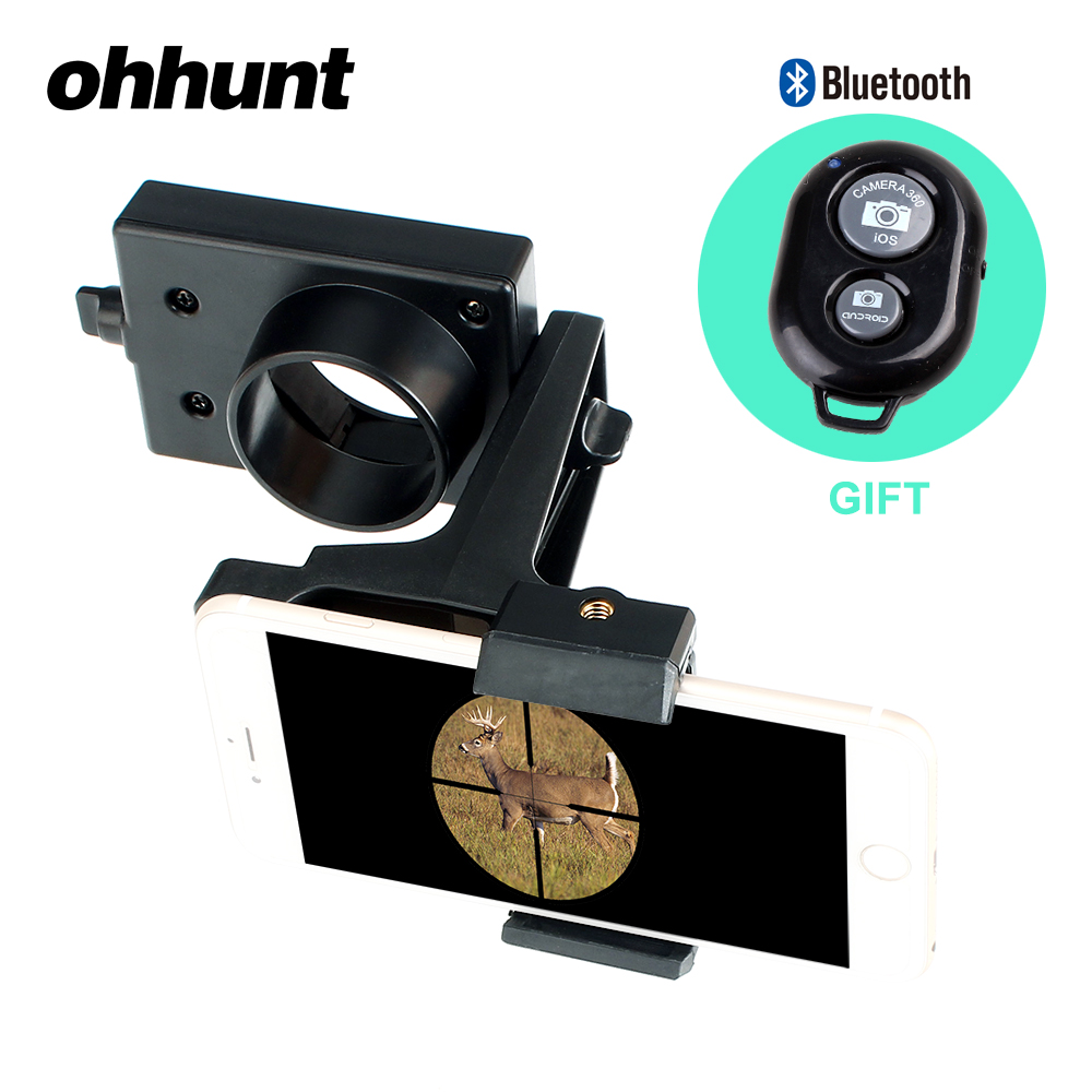 ohhunt Universal Riflescope Smartphone Mounting System Head Holder Support Mount Spotting Scope Adapter Kits Camera Phone Attach universal digital camera mount adapter smart phone holder 55 95mm for spotting scopes
