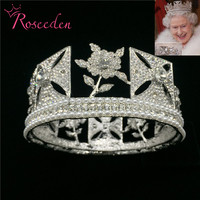 Baroque Royal Queen Crown Wedding Full Circle Pageant Tiara Crowns Bride Diadem Hair Jewelry RE3073