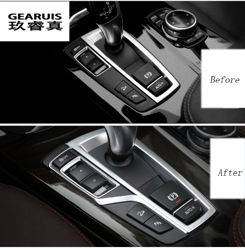 Car Gear Shift Box Sequins Cover Trim interior Stall Decoration decorative strip sticker for BMW f10 5 series F10 X3 F25 X4 F26 in Car Stickers from Automobiles Motorcycles