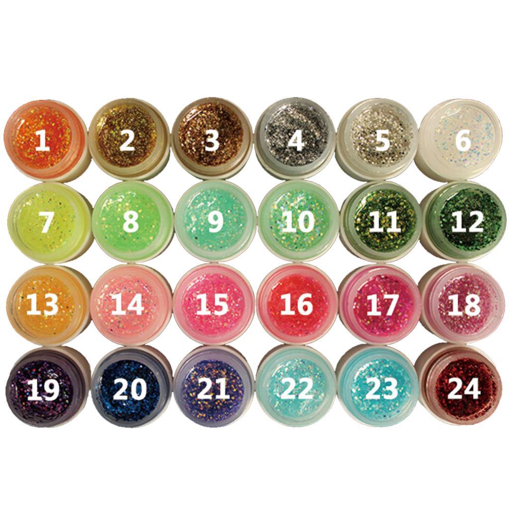 Popular 8ml Glitter Powder Glue Nail Polish Soak Off UV