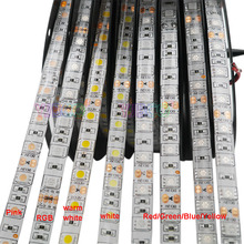 DC12V 5m 5050 2835 SMD Led Strip light RGB/White/Warm white/Red/Green/Blue/Yellow 60led/m Diode Flexible Led Strip IP20/IP65 led strip 2835 12v 60 led m flexible led light rgb white warm white blue green red yellow led strip 5m lot
