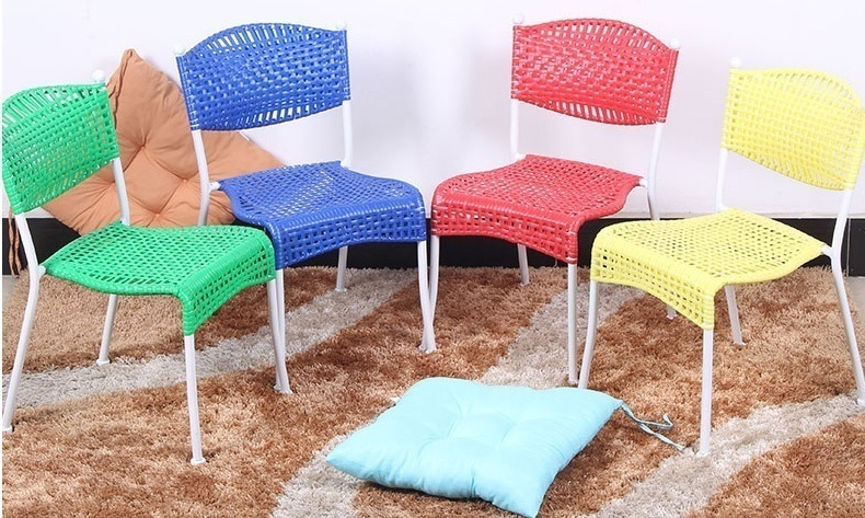 children garden chair living room playing game household stool yellow red green blue color chair. Black Bedroom Furniture Sets. Home Design Ideas