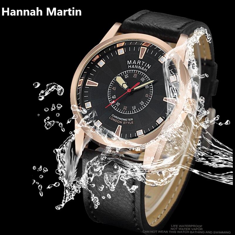 Business Men Watches Brand Hannah Martin International Luxury Clock High Quality Leather Quartz Waterproof Wrist watch XF1024 international business negotiations