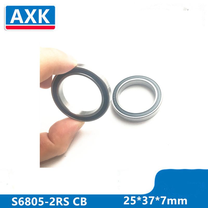 Axle Bearing Repair Parts Stainless Steel Ceramic Bearing Sc6805-2rs 25*37*7 Mm Bicycle Bottom Brackets & Spares 6805rs Bearings 2pcs 6805 2rs 25x37x7mm hybrid ceramic bearing bicycle bottom brackets spares si3n4 ball bearings 6805rs