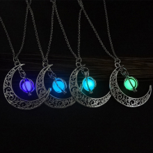 2019 explosion models luminous moon pumpkin creative pendant female necklace couple husband and wife gift jewelry