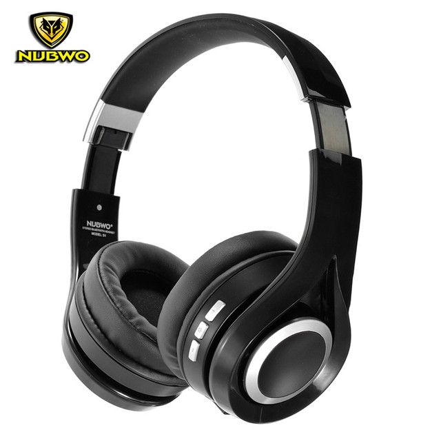 332597c4518 NUBWO S1 Bluetooth 4.1 Wireless Headphones Stereo Deep Bass Foldable Headset  with Microphone Over Ear APT